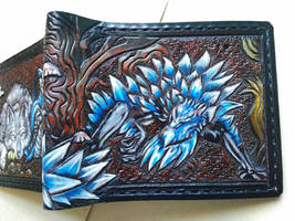 Sir Artorias and Crystal Lizard leather wallet fro by Bubblypies