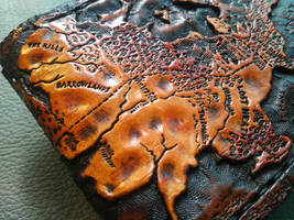 Map of westeros leather wallet close up by Bubblypies