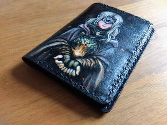 Dark souls passport leather wallet front by Bubblypies