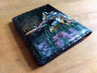 Dark souls passport leather wallet back by Bubblypies