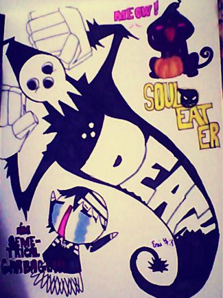 Soul eater :death the kid and his fathah!! by partyof1000