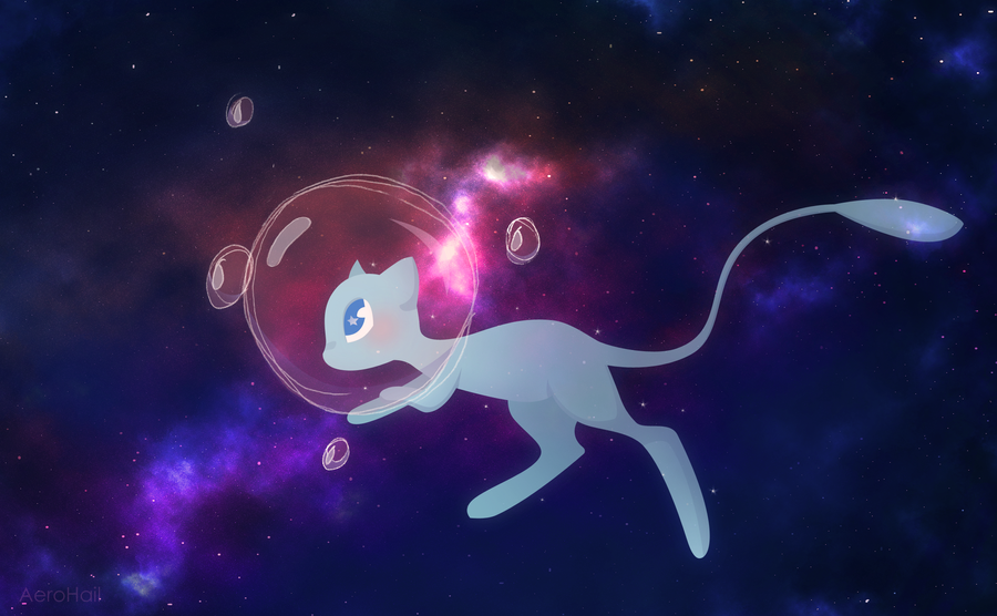 Shiny-Mew by Aer0Hail on DeviantArt