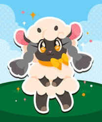 FA - Animal Crossing Wooloo by Aer0Hail