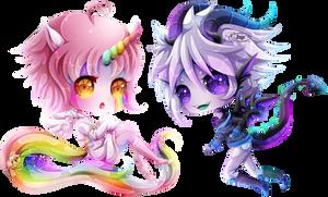 + Com + Unicorn and Dragon + by AngeKrystaleen