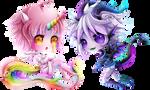 + Com + Unicorn and Dragon +