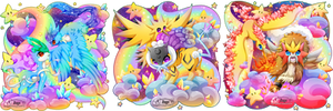 + Pkmn Rainbow + Legendary + by AngeKrystaleen