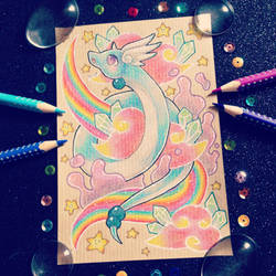 + Com + Rainbow Dragonair + by AngeKrystaleen