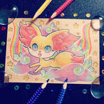 + Com + Rainbow Fennekin +