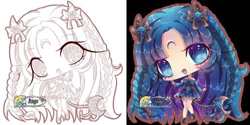 + Com + Mini Sketchy Chibi + Luna +