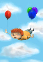 Flying Boy by oOkey-chanOo
