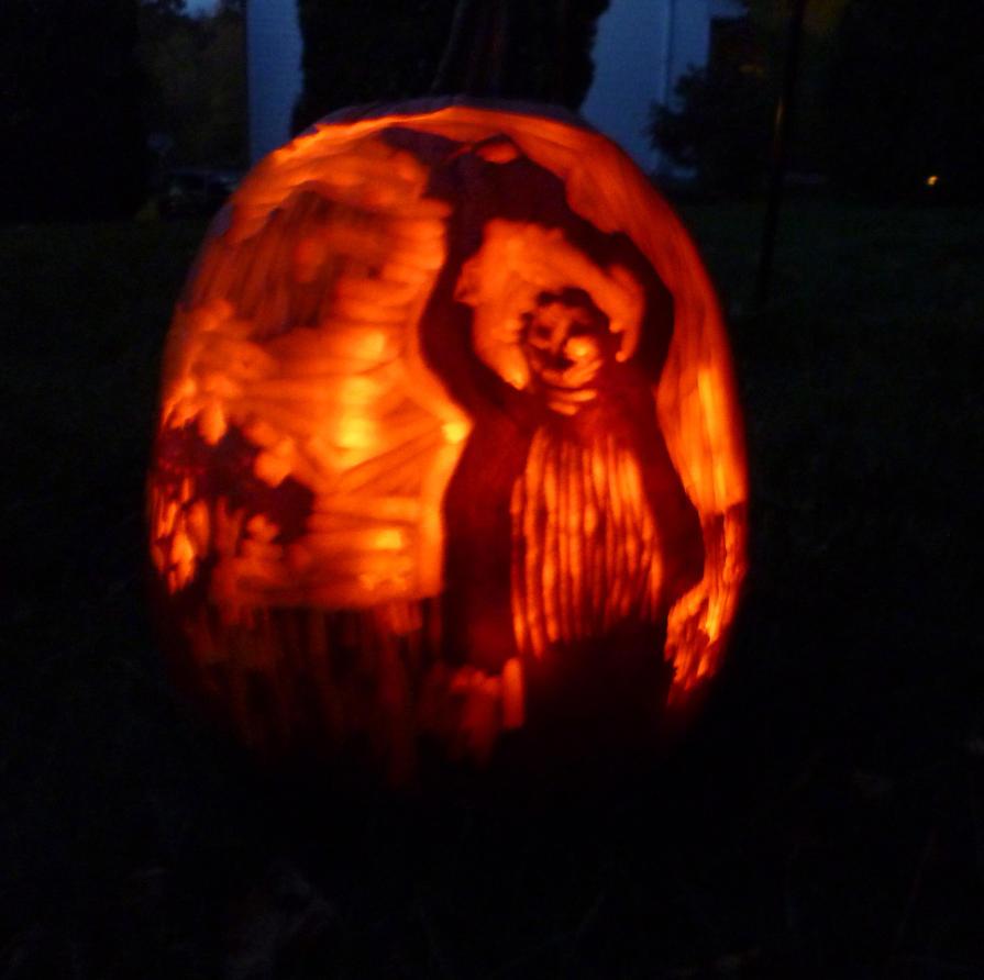 Texas chainsaw pumpkin by sexytime on deviantart