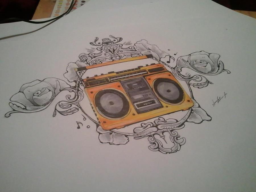 Tattoo Boombox Design ...