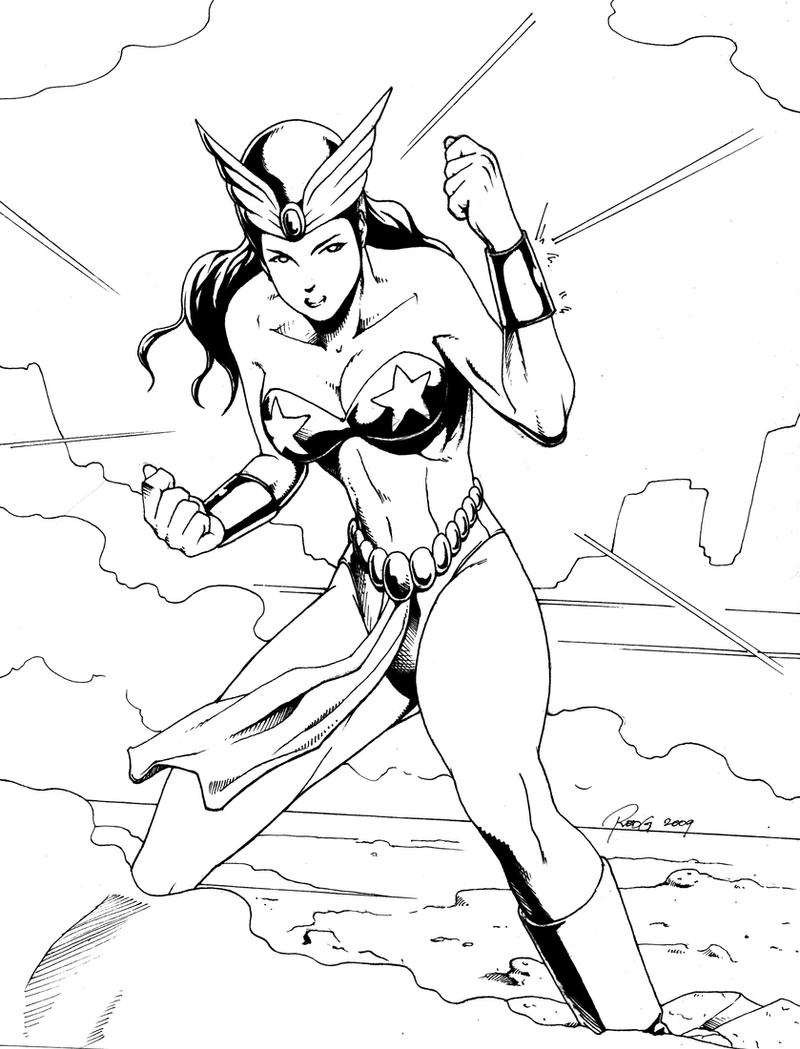 Darna Line Art by redgvicente