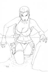 Lara Croft WIP by redgvicente