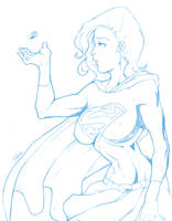 Pencil: Supergirl by redgvicente