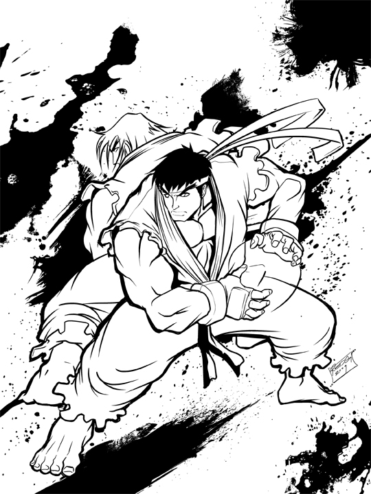 Fanart Ryu Ken Lines By Redgvicente On Deviantart