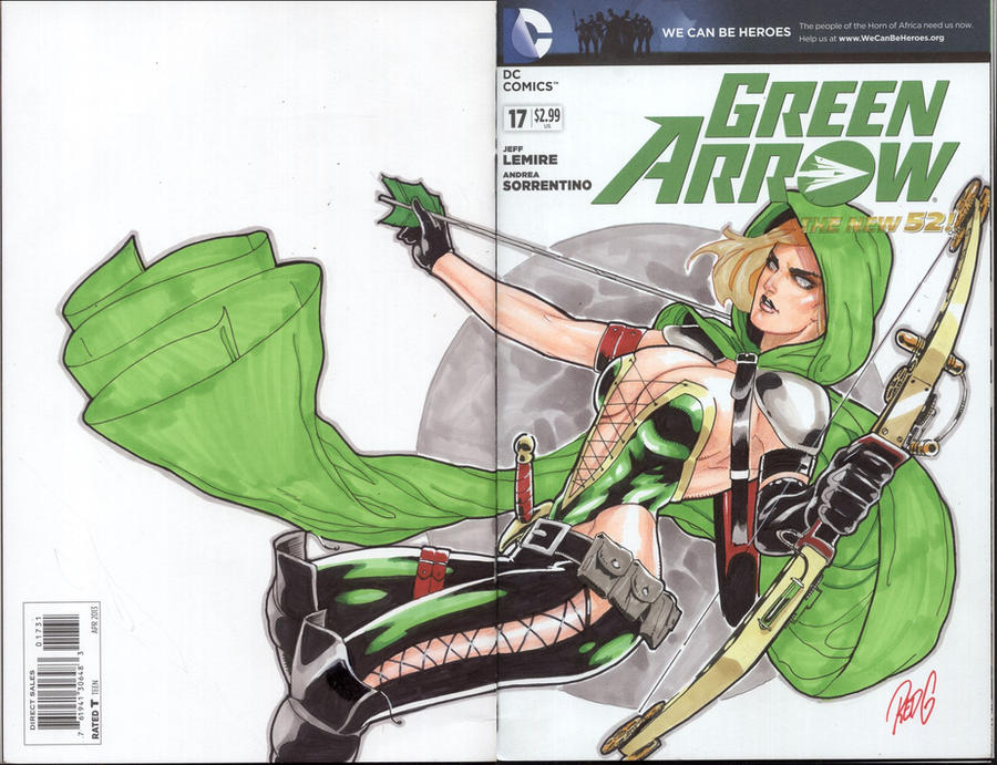 Green Arrow Blank Cover Commission by redgvicente