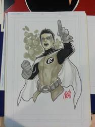 Sketch: Damian Wayne by redgvicente