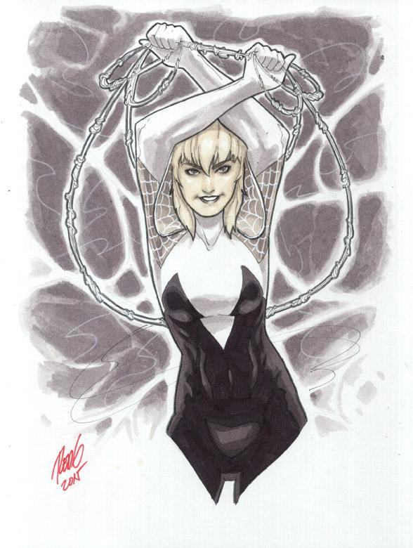 Spider-Gwen Convention Sketch by redgvicente