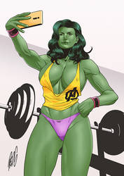 Commission: She-Hulk by redgvicente