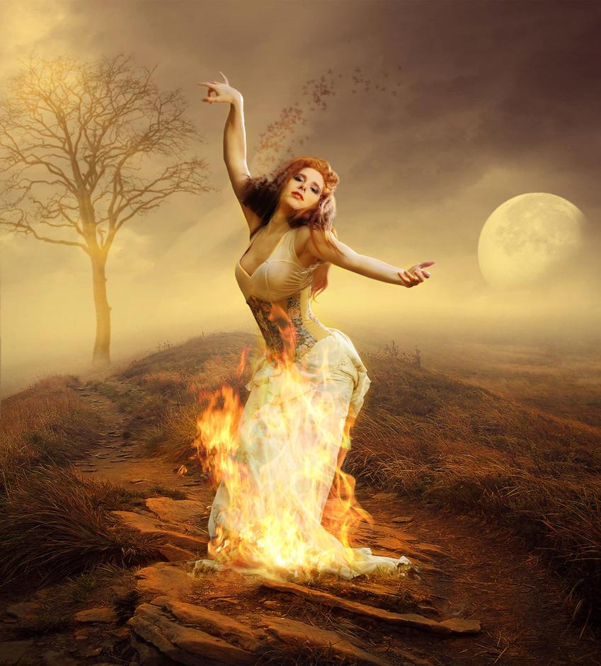 Fire: Autumn by Dracona666