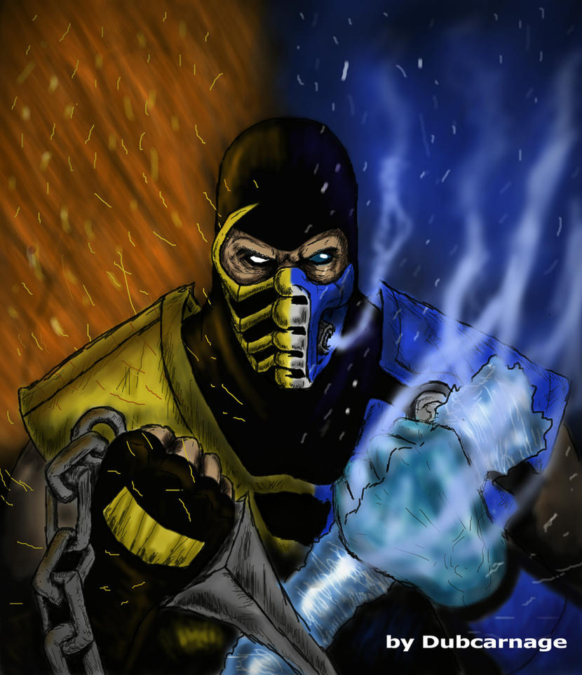 Pictures of Mortal Kombat Sub Zero Vs Scorpion Drawing