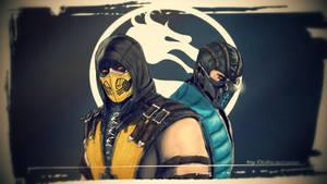 Scorpion and Sub- Zero Mortal Kombat X