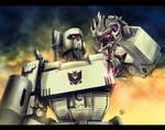 Megatron pwns Bay's Megatron