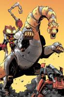 Maximum Dinobots 4 cover by khaamar