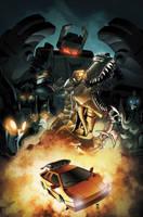 Maximum Dinobots 5 cover by khaamar
