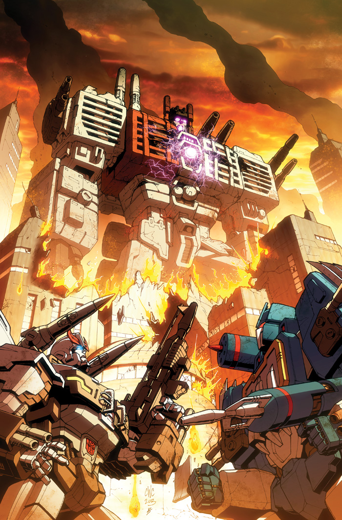 TF Dark Cybertron #8 cover colors by khaamar