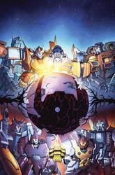 TF Dark Cybertron #1 cover colors