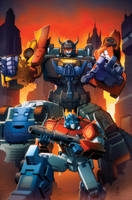 Transformers Combiner Wars #1 cover colors