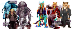 Antro, ferals and predator - Commission by ImKuloki