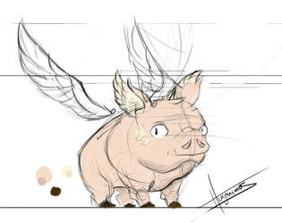 The Flying Bacon-Model Sheet WIP by Hugonimus