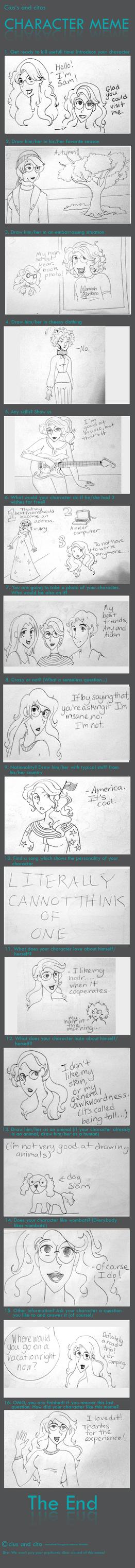 Character Meme by OakEvolution