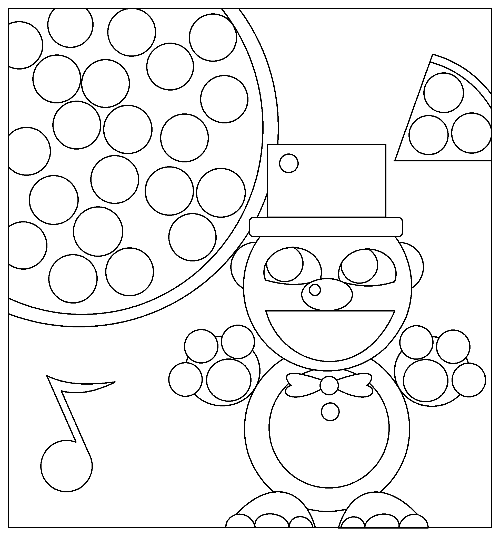 Five nights at freddys coloring pages for Freddy coloring pages