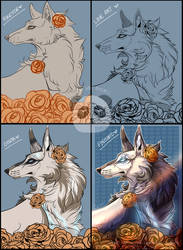YCH - From Sketch to Finished Piece