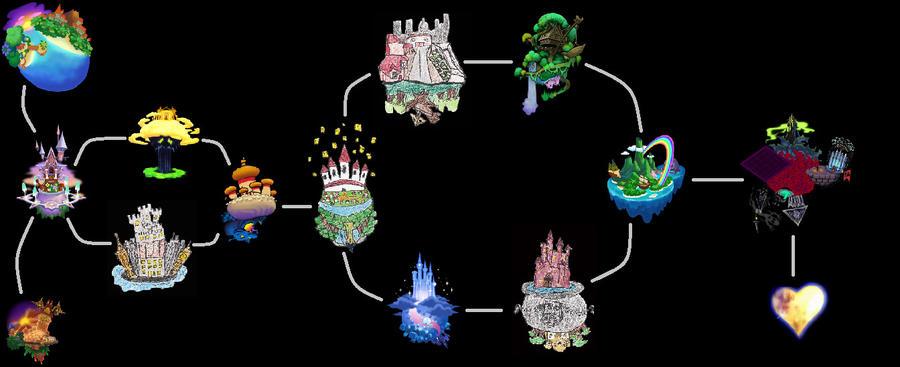 World Map for KH:DtL by UGAvillain