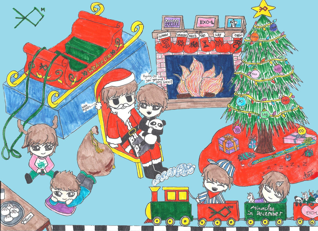 EXO-M Miracles in December Christmas by Aerokusaki