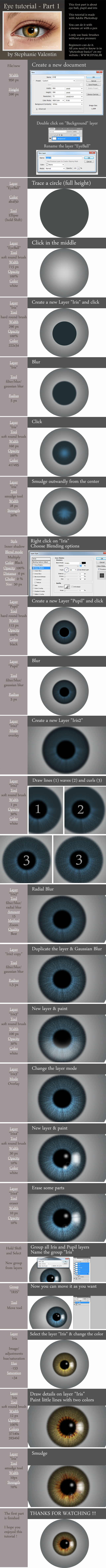How to draw realistic EYE - Part 1/3 by StephanieVALENTIN