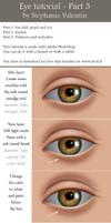 How to draw realistic EYE - Part 3/3 by StephanieVALENTIN