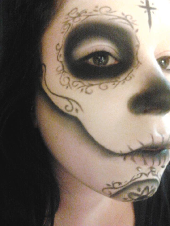 Sugar Skull Make-Up by EmmaRoseMUA