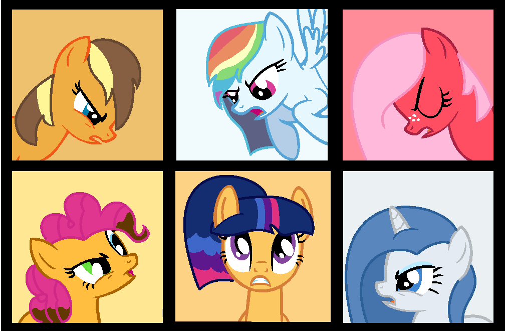 Who to choose? Who to pick? (Mane 6 daughters) by YouCanCountOnFlippy