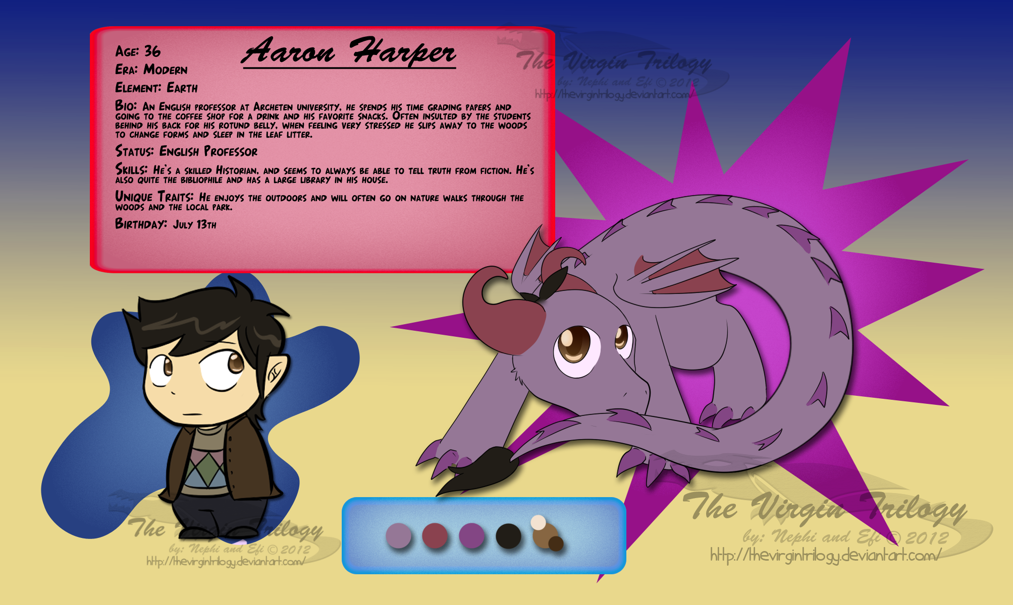 Aaron Harper ref by CyphonFiction