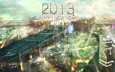 Happy New Year 2013!!! by TAKA-F
