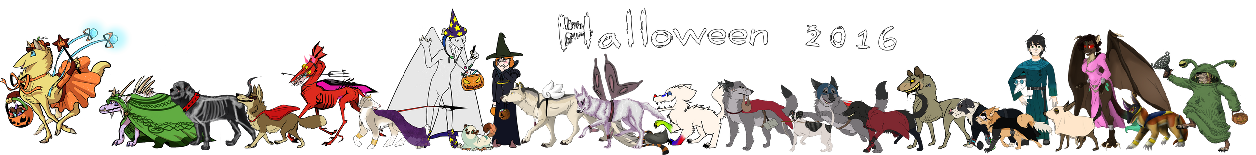 Monster Parade: Halloween 2016 by Songdog-StrayFang