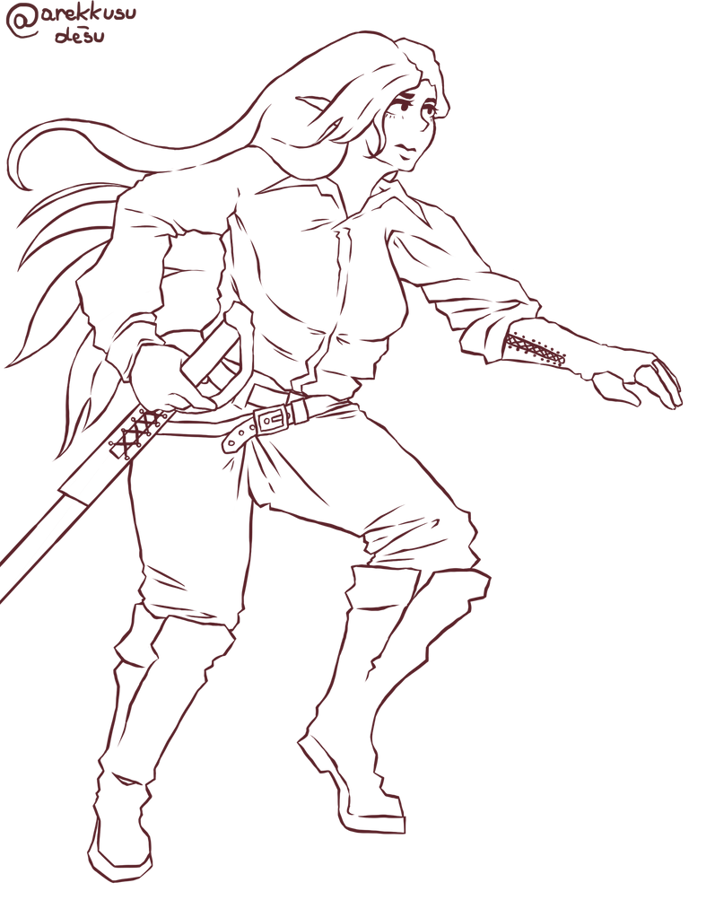 Full Body Character Sketch By Arekkusu Desu On Deviantart