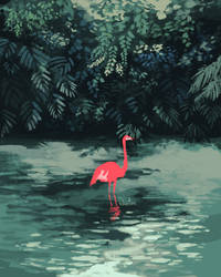Pink in Green