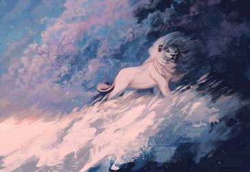 Storm Lion by Qostine